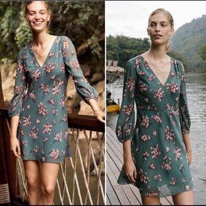 NWOT Madewell Marguerite Floral V-Neck Dress